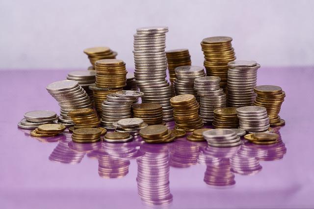 sloupečky drobných mincí