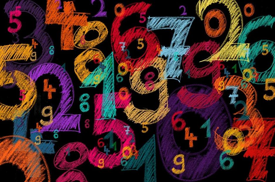 malované číslice